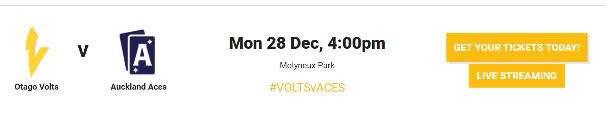 OTG vs ACK Live Streaming   Otago Volts vs Auckland Aces Live Streaming  volts vs Aces Live streaming   Super Smash Live Streaming 2020-21