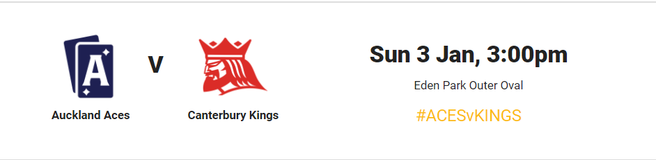 Super Smash 2020-21 : Auckland Aces vs Canterbury Kings – live stream,live score, live telecast #AcesvsKings