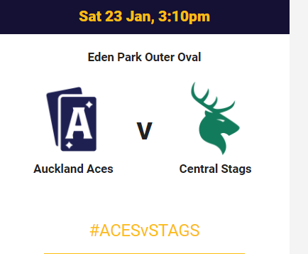 Auckland Aces vs Central Stags match 21 super smash live streaming