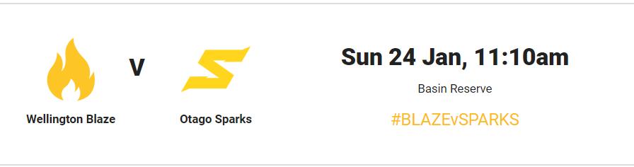 Super Smash Women 2020-21 Match 22 : Wellington Blaze vs Otago Sparks(WB-W vs OS-W) live stream,live score, live telecast #BlazevsSparks