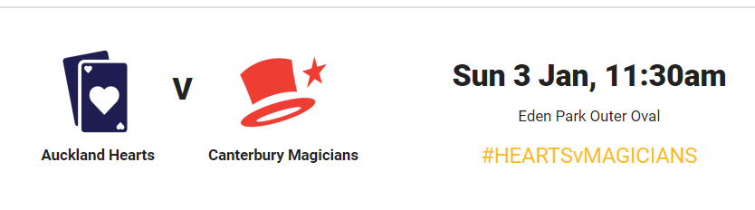 Super Smash Women 2020-21 : Auckland Hearts vs Canterbury Magicians– live stream,live score, live telecast #HeartsvsMagicians