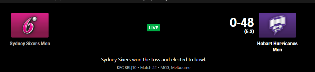 HH vs SS (HUR V SIX ) – Hobart Hurricanes vs Sydney Sixers BBL10 Match 52 Live streaming Schedule Match Preview,Prediction ,Dream11, playing 11 #HHVSS