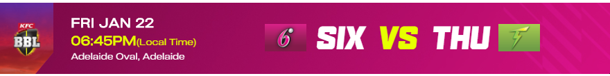 SS vs ST (SIX V THU) – Sydney Sixers vs Sydney Thunder BBL10 Match 48 Live Streaming Schedule Match Preview,Prediction ,Dream11, playing 11 #SIXVTHU