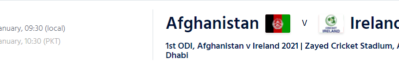 AFG vs Ire Live Streaming schedule