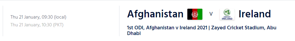 AFG vs IRE -Afghanistan vs Ireland ODI Live Streaming Schedule 2021, Squad, TV Channel