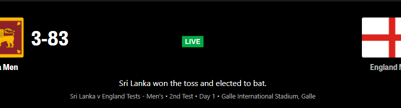 SL vs ENG 2nd test match