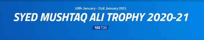 Punjab v Uttar Pradesh Live Streaming : Round I – Elite Group A, Syed Mushtaq Ali Trophy 10 January 2021, Alur Cricket Stadium II, Bangalore