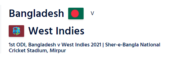 WI vs BAN ODI series live streaming
