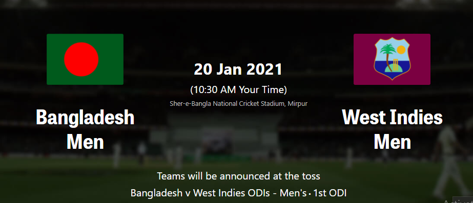 West Indies vs Bangladesh ODI series 2021-Live Streaming Schedule, Squad, Venues, Fixtures, Head to Head