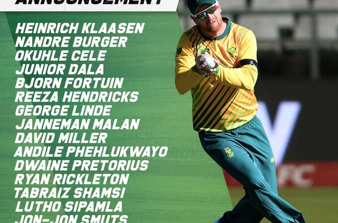 Cricket South Africa has announced it's T20 team squad for upcoming Pakistan vs South Africa T20 International series 2021. South Africa Cricket board has done major changes in its T20 team