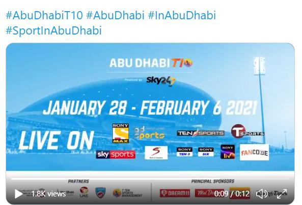 Abu Dhabi T10 League Team Squads