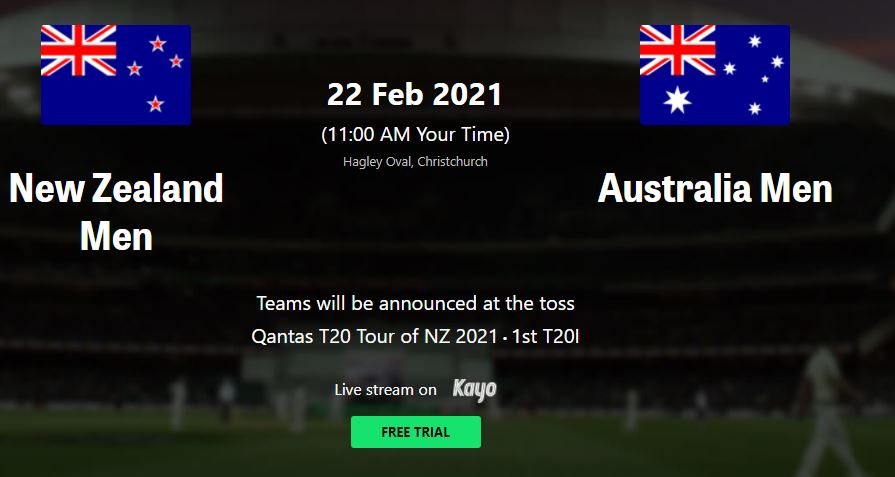 Aus vs NZ  T20 Live Streaming TV Channels Guide   Where to watch LIVE