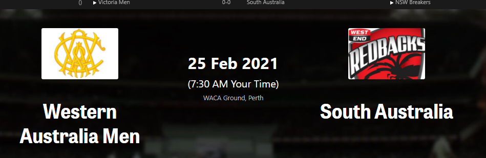 WA Men vs SA Men Dream11 Team Sheffield Shield 2020-21, Match 14