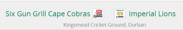 CSA T20 Challenge Live Streaming| Where to Watch Live Cobras vs Lions 14th match Preview,prediction ,live Score -CC vs HL