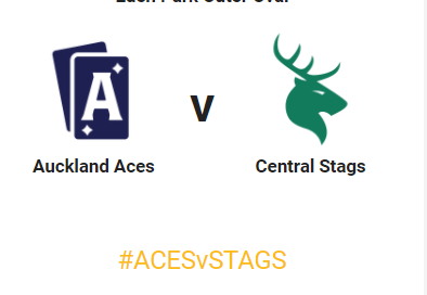 Auckland Aces vs Central Stags live streaming