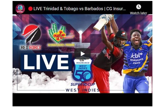 Super50 live streaming 2021 - TNT v BAR live