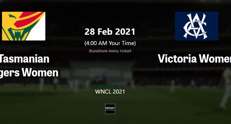 TAS W vs VIC W live streaming WNCL 2021 live