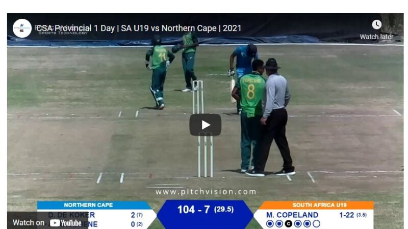 CSA Provincial One day cup live streaming