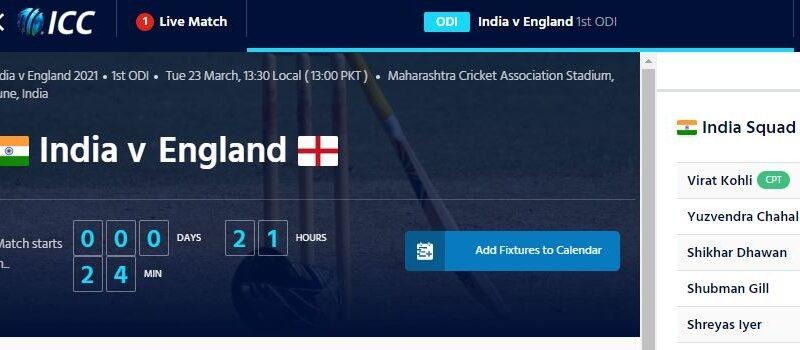 India vs England 2nd ODI Live streaming, Live cricket score