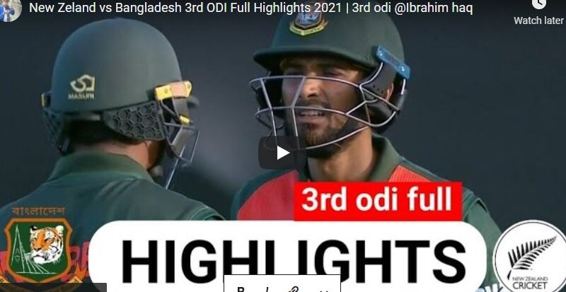 NZ vs Ban 3rd ODI highlights
