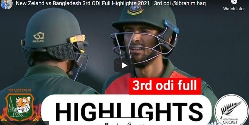 New Zealand vs Bangladesh 3rd ODI | Devon Conway and Daryl Mitchell maiden centuries highlights