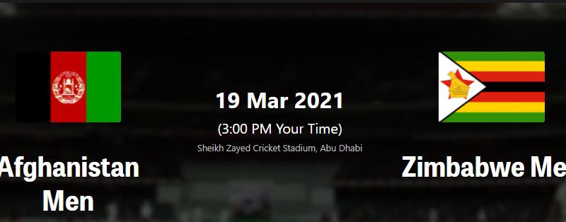 AFG vs ZIM 2nd T20I live streaming