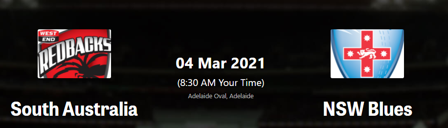 Marsh One-Day Cup2021: SAU vs NSW 4th Match Marsh OD-Cup Live score Streaming, Preview, Prediction, Schedule, Dream 11 South Australia vs New South Wales MEN