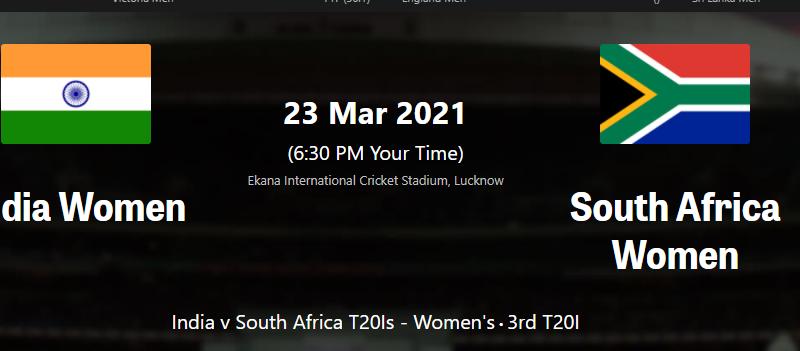 South Africa Women vs India Women 3rd T20I dream111