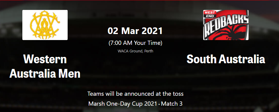 Marsh One-Day Cup2021: SAU vs WAU 3rd Match Marsh OD-Cup Live Streaming, Preview, Prediction, Schedule, Dream 11 South Australia vs Western Australia MEN