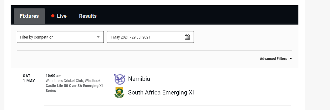 South Africa Emerging vs Namibia Live Streaming – Scorecard and Videos