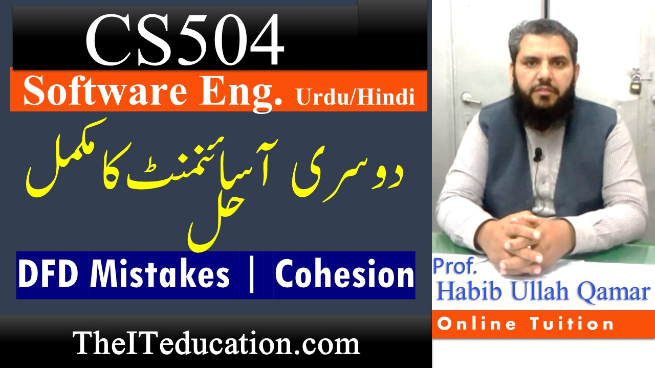 CS504 Assignment 2 Solution Spring 2021 | DFD mistakes & Cohesion | 100% Complete Solution Guide